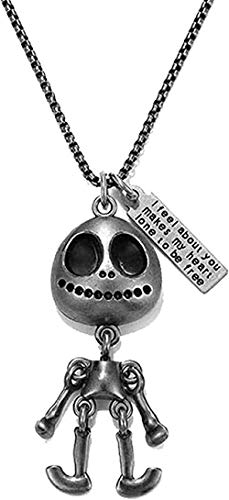 Ahuyongqing Co.,ltd Necklace Necklace Titanium Steel Cartoon Sweet Bear Darkness Dinosaur Robot Necklaces for Men and Women 70cm Long Chain Punk Retro Jewelry Gift for Women Men Gift