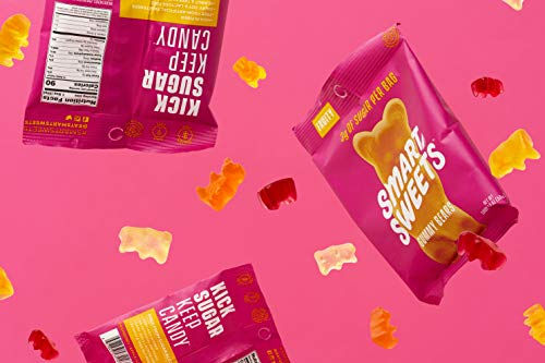 SmartSweets Gummy Bears Fruity 1.8 Oz Bags (Box Of 12), Candy With Low-Sugar (3g) & Low Calorie (90)- Free of Sugar Alcohols & No Artificial Sweeteners, Sweetened With Stevia