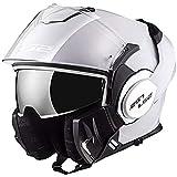 LS2, casco de moto modular VALIANT blanco, S
