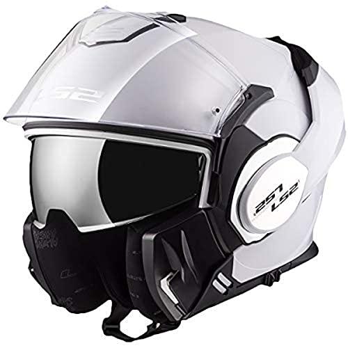 LS2, casco moto modulare VALIANT bianca, S