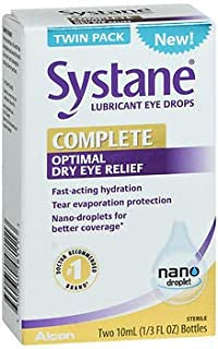 Systane Complete Optimal Dry Eye Relief Lubricant Eye Drops - 20 ml, Pack of 5