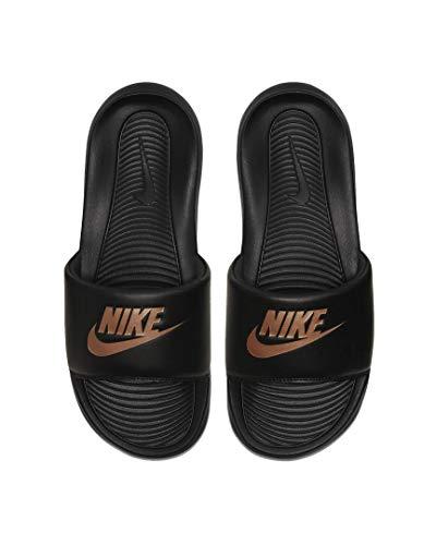 Nike Victori One Women Slides Badelatschen (Black/Copper, Numeric_39)