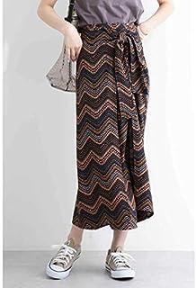 エヌ ナチュラルビューティーベーシック(N.Natural Beauty Basic*) エスニックプリントラップマキシスカート