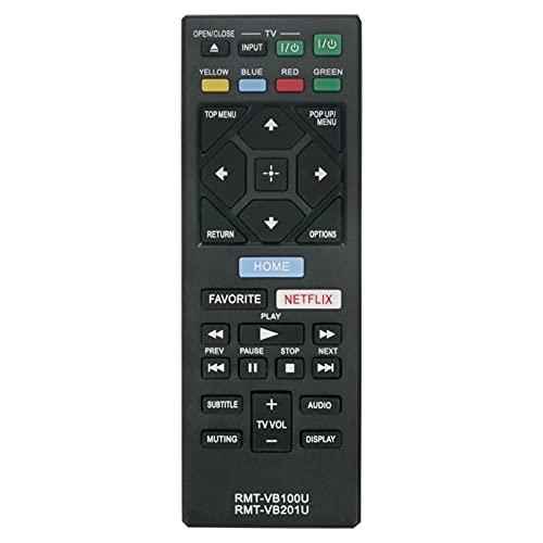 ALLIMITY RMT-VB100U RMT-VB201U Fernbedienung Ersetzen für Sony Smart Blu-ray Player BDP-S1500 BDP-S1700 BDP-S2500 BDP-S2900 BDP-S3500 BDP-S3700 BDP-S4500 BDP-S5500 BDP-S6500 UBP-X700