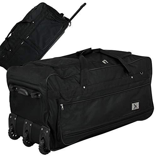 XXXL Trolleytasche 182L mit 3 Rollen schwarz Koffer Reisetasche Trolley