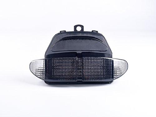 topzone Lighting Gris Lens LED moto feu arrière feu arrière avec Indicateurs clignotant Lampe Intégrée pour Honda 1998–1999 CBR900RR