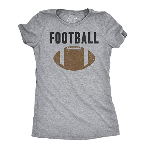 Womens Vintage Football T Shirt Funny Sunday Game Day Tee for Ladies Graphci (Light Heather Grey) - S