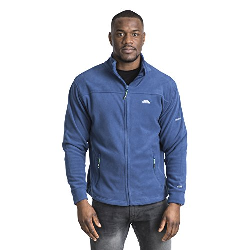 Trespass Bernal, Navy Tone, S, Warme Fleecejacke 300g/m² für Herren, Small, Blau