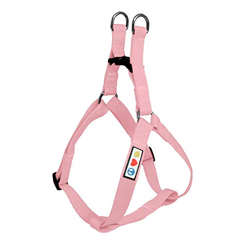 Pawtitas Solid Color Step in Dog Harness or Vest Harness Dog Training Walking of Your Puppy Harness Extra Small Dog Harness Pink Cherry Blossom Dog Harness