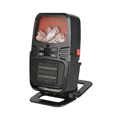 ZYING Mini Calentador eléctrico de Escritorio portátil de 500 W, Ventilador pequeño, Calentador de Temperatura de 9 velocidades, máquina para Invierno