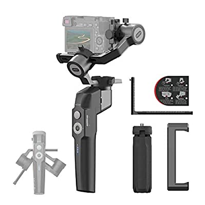 MOZA Mini P Gimbal 3 Axis Stabilizer Compatible Smartphone Mirrorless Camera Action Cameras Up to 1.98Lb Horizontal Vertical Modes for Traveling Adventuring Filmmaking Capturing 20h Runtime from Gudsen