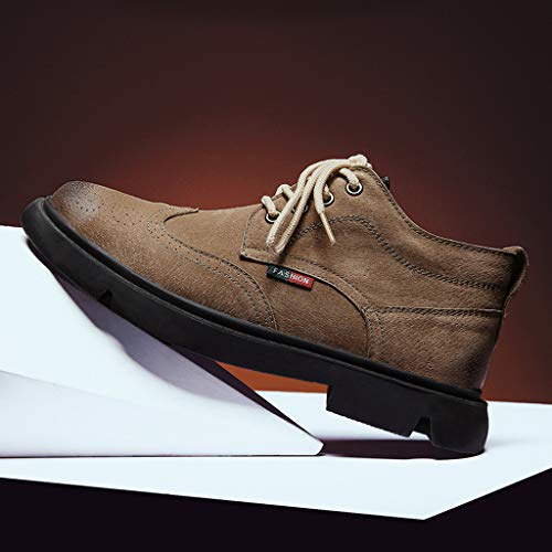 Men's Chukka Boots Casual Suede Desert Shoes Leather Desert Boots Walking Chukka Shoes Goosun Classic Round Toe Chukka Ankle Boots Dress Fashion Oxfords Suede Leather Boots Brown