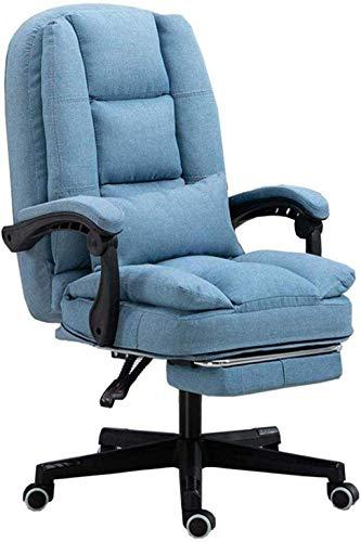 XiYou Executive Recline Abnehmbarer Stoffbezug Hebestuhl Computerstuhl Racing Office Chair Armchair (Grau)