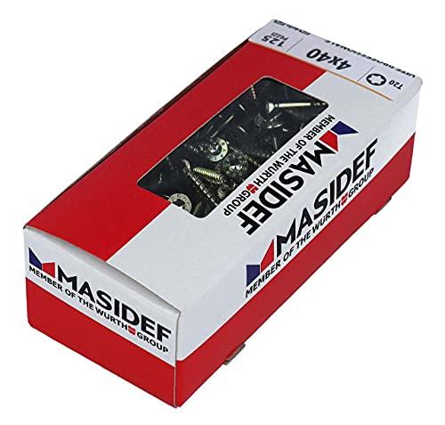 Masidef: Member of the Würth Group KW3214040MP Vite Professionale per Legno, Rapid 2057, Zincato Giallo, 4 x 40 mm, 125 Pezzi