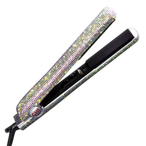 """CHI The Sparkler 1"""" Lava Ceramic Hairstyling Iron Special Edition, Hair Straightener, Silver"""