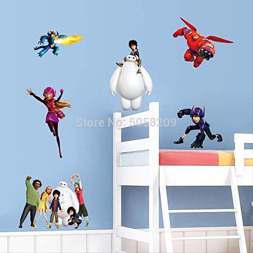 WYLD Wandaufkleber Big Hero 6 film figuren wandtattoos Baymax cartoon diy 3d vinyl aufkleber kinder schlafzimmer kinderzimmer dekoration wunder poster 90 * 30 cm