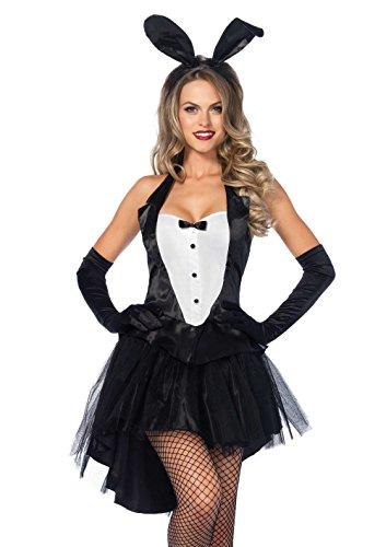 Leg Avenue Tux & Tails Bunny Adult Sized Costumes, Noir Blanc, Taille: M/L (EUR 42-44) Pour Femmes