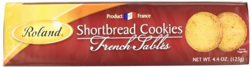 Roland Shortbread Cookies, French Sables, 4.4 Ounce (Pack of 6)