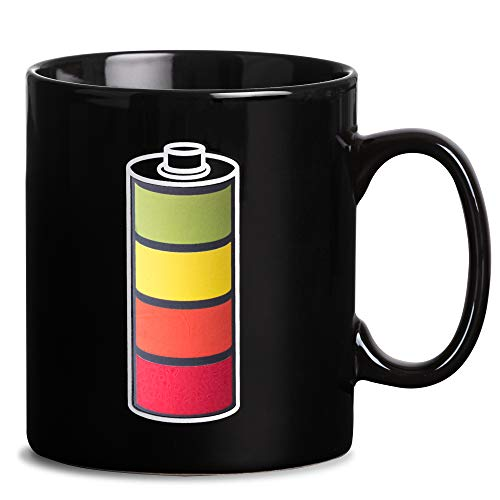 Froster Riesenbecher - Batterie, Magischer Becher mit Ladebatterie-Thema, XXL, 900 ml Farbwechsel Tasse