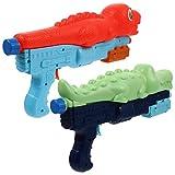 TOYANDONA 2 Unidades de Pistolas de Agua para Niños Juguetes de Verano para Fiestas de Piscina con Chorro de Dinosaurio de Cocodrilo
