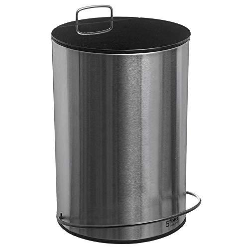 Poubelle 5 litres en métal noir - D 20,5 cm x H 32,4 cm