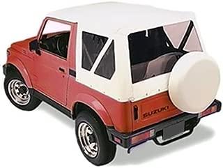 Sierra Offroad Suzuki 1986-1994 Soft Top, Leather Grain Vinyl, White