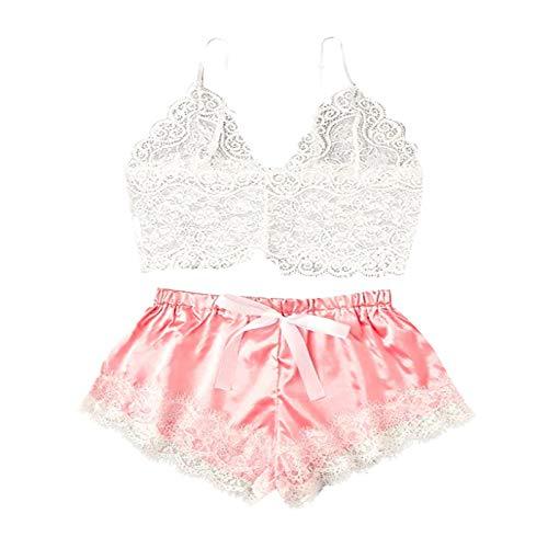 Underwear - Brasil, pijamas para mujer, manga larga, encaje, ropa interior de noche e M