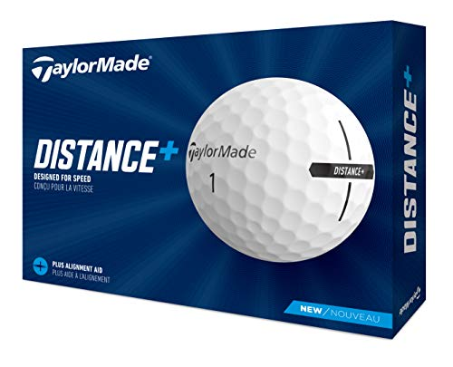 TaylorMade Unisex's Distance+ Golf Balls, White, One Size