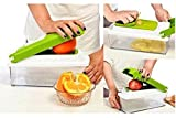 Nova Vegetable & Fruit Chipser Vegetable Chopper, Vegetable Slicer (11 Blades + 1 Pillar)