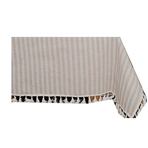 JIY - Tovaglia in cotone e lino, con griglia bianca e nera, semplice tavolino da caffè, per TV, per armadio, tovaglia (colore: A, dimensioni: 60 x 60 cm (2 pezzi)