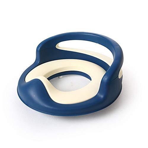 Asiento de inodoro Formación del amortiguador del bebé entrenamiento insignificante del asiento de tocador azul suave de la PU del amortiguador del bebé de los bebés for ir al baño WC niños funda de a