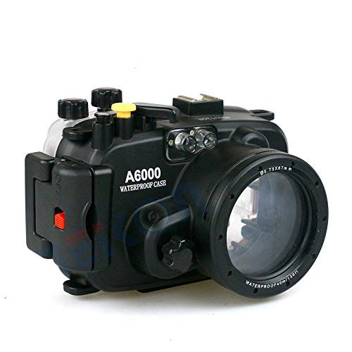 Carcasa impermeable para cámara Sony A6000, profundidad máxima de buceo 40 m, apto para fotografía de buceo profesional, surf, natación, esnórquel