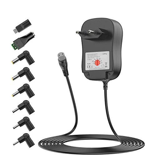 Universal 3V 4.5V 5V 6V 7.5V 9V 12V 2000mA AC DC Adapter Netzteil Ladegerät für Haushaltselektronik LED Streifen Webcams Lautsprecher CCTV USB Hubs Tabletten, Alarme, Beauty-Hardware und USB 5V-Geräte