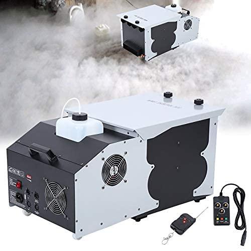 Ridgeyard Smoke Fog Machine DMX 512 Wireless Remote Control Stage Ground Fogger for Wedding Disco Party Show (Low Laying)