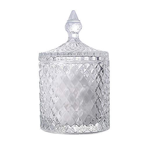 BESTONZON Bonbonnière en cristal Bonbonnière avec couvercles Bonbonnière en cristal Bonbonnière en verre recouverte de verre recouverte de verre