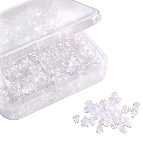 Silicone Clear Earring Backs 1000 Pieces Bullet Earring Clutch by Yalis
