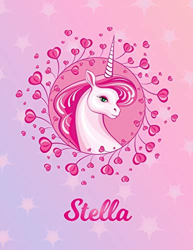 Stella: Unicorn Sheet Music Note Manuscript Notebook Paper – Magical Horse Personalized Letter S Initial Custom First Name Cover – Musician Composer … Notepad Notation Guide – Compose Write Songs