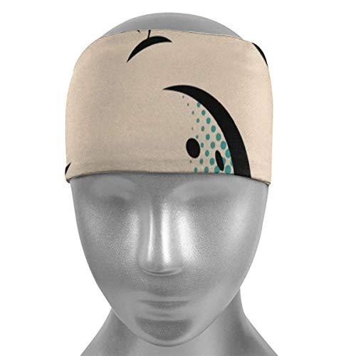 Meloci Sport Stirnbänder Bowlingkugeln Pop Art Weiche Sport Stirnbänder, atmungsaktives Schweißband, rutschfestes, absorbierendes feuchtigkeitselastisches Stirnband
