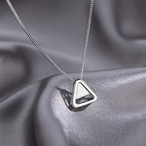 Thank You for Being My Badass Tribe Collar con forma de triángulos, cadena de cuello simple para niñas y mujeres