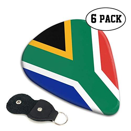Zuid-Afrika Vlag 351 Vorm Klassieke Celluloid Gitaar Picks voor uw elektrische, akoestische, Mandoline, Bas en Ukulele Gitaar .71mm 6-Pack