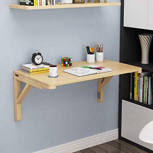 LAMTON Oficina de escritorio del ordenador portátil pequeña Natural de pared abatibles escritorio de la tabla de madera de cocina plegable comedor mesas de estudio de la tabla de pequeña escala Comput