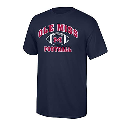 Elite Fan Shop Mississippi Old Miss Rebels Men's Team Color Football T-Shirt, Large