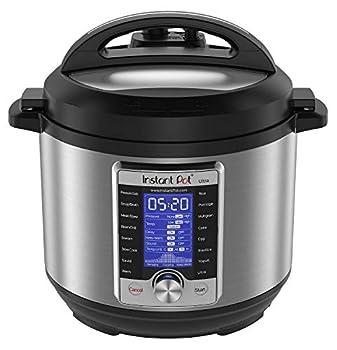 Instant Pot Ultra 60 Ultra 6 Qt 10-in-1 Multi- Use Programmable Pressure Cooker Slow Cooker Rice Cooker Yogurt Maker Cake Maker Egg Cooker Sauté and more Stainless Steel/Black