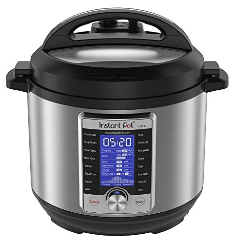 Instant Pot Ultra 60 Ultra 6 Qt 10-in-1 Multi- Use Programmable Pressure Cooker, Slow Cooker, Rice Cooker, Yogurt Maker, Cake Maker, Egg Cooker, Sauté, and more, Stainless Steel/Black