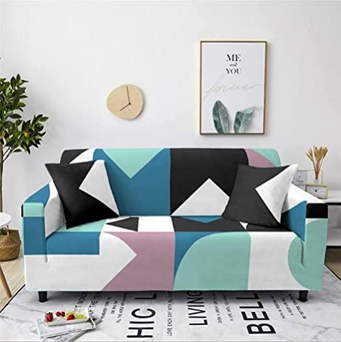Fundas de Sofá Elastica 2 PlazasPatrón de Cuadros Azul Funda Cubre Sofa Regalar 2 Funda de Cojines Funda para Sofá Funda de sofá de Sillón Antideslizante Protector Cubierta de Muebles