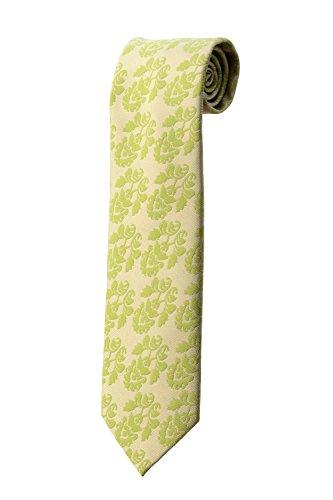 Cravate large à fleurs vertes DESIGN costume