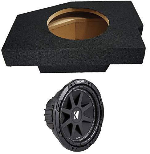 Compatible with Dodge Ram 02-12 Quad Cab Truck Single 10' Kicker C10 Sub Box Enclosure 300 Watts Peak