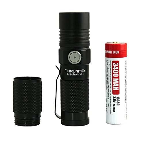 ThruNite Neutron 2C V3 Rechargeable LED Micro-USB Flashlight, 1100 Lumen with CREE XP-L LED, Turbo, Strobe Light and self-Defined Modes - CW