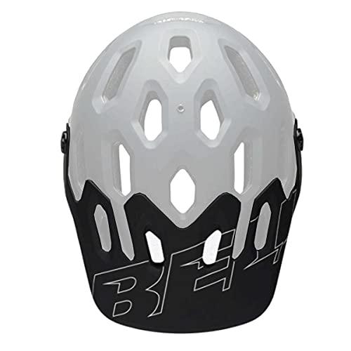 Bell Super 3/3R - Visera para Casco, Color Blanco y Negro Mate, Talla única