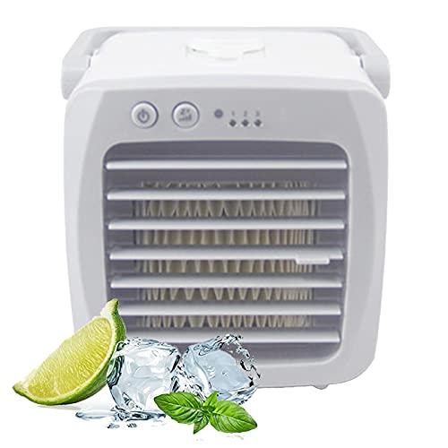 ZYUJ Aire acondicionado portátil, mini aire acondicionado portátil ventilador refrigerador de aire ventilador hogar pequeño escritorio USB humidificador